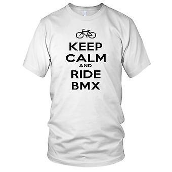Bewahren Sie Ruhe und Ride BMX Damen T Shirt