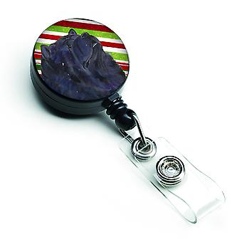 Chow Chow Candy Cane Holiday Christmas Retractable Badge Reel