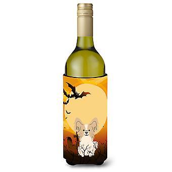 Halloween Papillon Sable White Wine Bottle Beverge Insulator Hugger