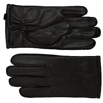 Ashwood Ashwood Black Leather Mens Gloves