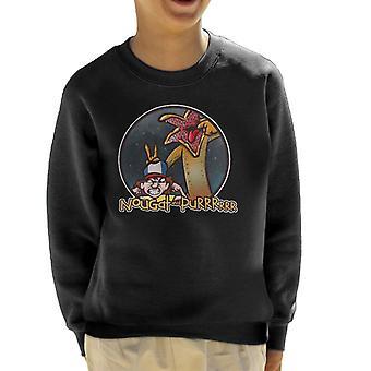 Sweatshirt de nougat et Purrrrrr Calvin et Hobbes plus étranges choses Kid