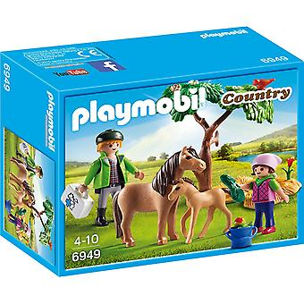 PLAYMOBIL Landtierarzt mit Pony und Fohlen 6949
