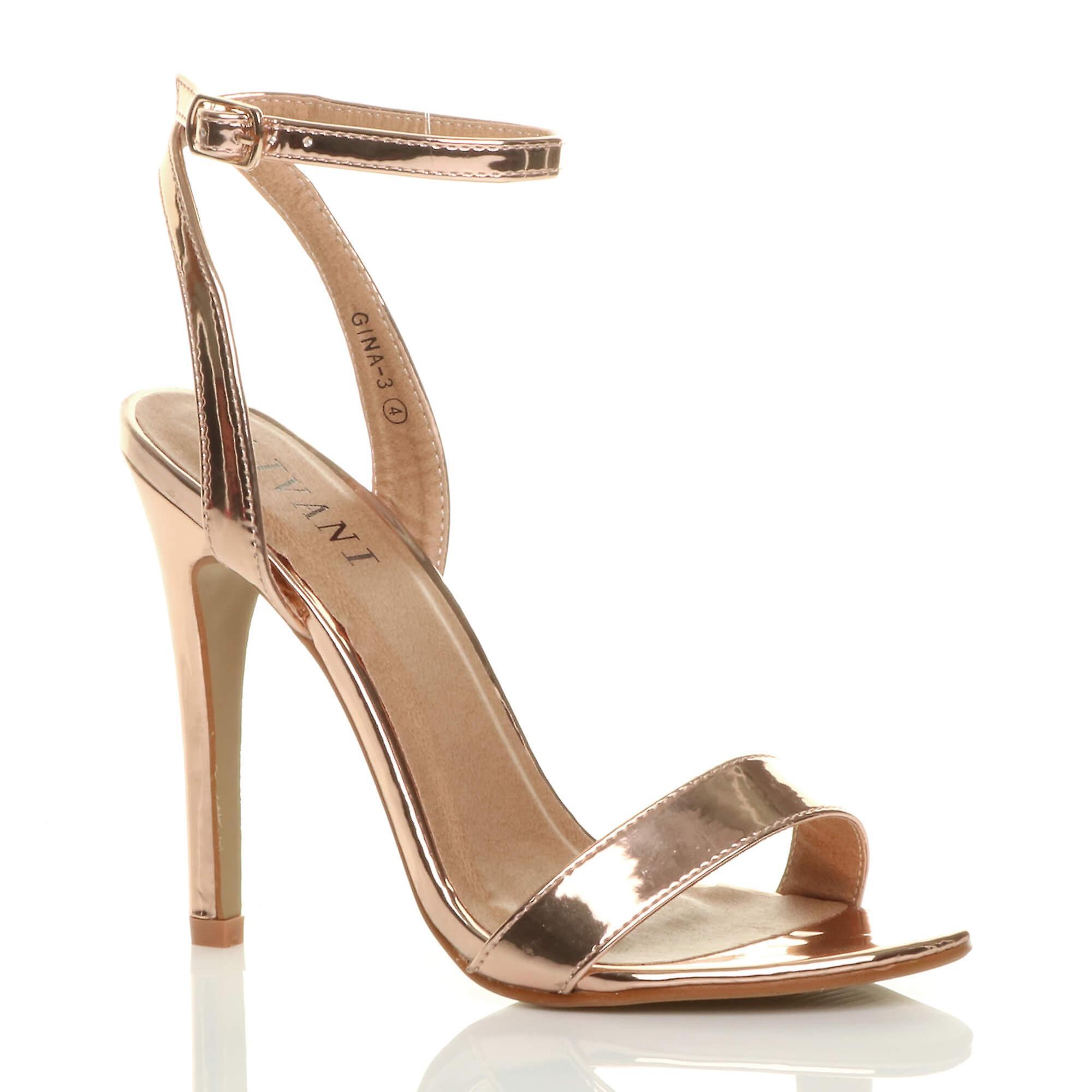 Ajvani damskie szpilki platformy kostki pasek ledwo tam paski sandały buty 9ri4N