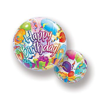 Palloncino Bubbel palla buon compleanno palloncino stelle filanti compleanno circa 55 cm