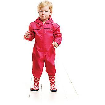 Regatta Kids Paddle Waterproof Breathable Rain Suit TRW466 Pink