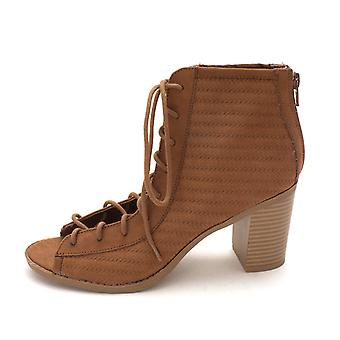 American Rag Womens Sidni Fabric Peep Toe Ankle Fashion Boots