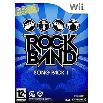 Rock Band Song Pack 1 (Wii) - Como Novo