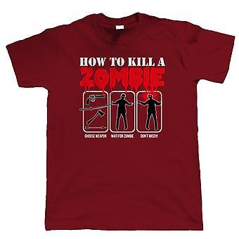 Wie man einen Zombie zu töten, Herren lustige T Shirt - Dead Walking Geschenk ihm Papa Väter Tag