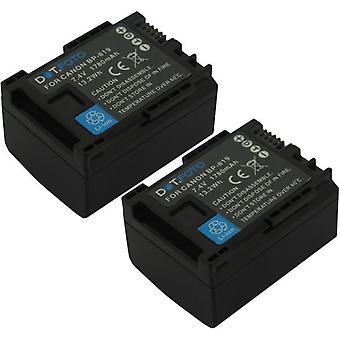 2 x Dot.Foto BP-819 PREMIUM 7.4v / 1780mAh Ersatz wiederaufladbare Camcorder Batterie für Canon [Siehe Beschreibung für Kompatibilität]