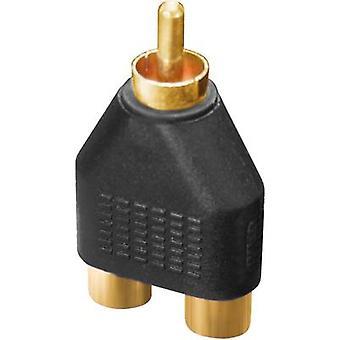 Dynavox Audio/Phono Adapter [2x Cinch-Buchse (Phono) - 1x Cinch-Anschluss (Phono)] Schwarz