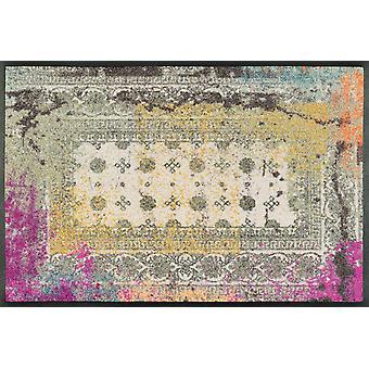 wassen + droge mat Taza wasbaar levende mat roze vintage versleten look