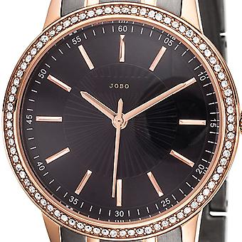 JOBO ladies wrist watch quartz analog stainless steel bicolor with Crystal element