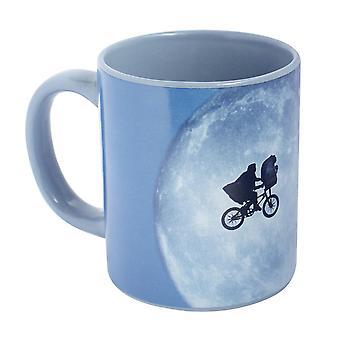 E.T. de buitenaardse beker -Classic Movies- wit, bedrukt, keramisch, F3ll hoeveelheid ca. 320 ml., wordt geleverd in geschenkverpakking.