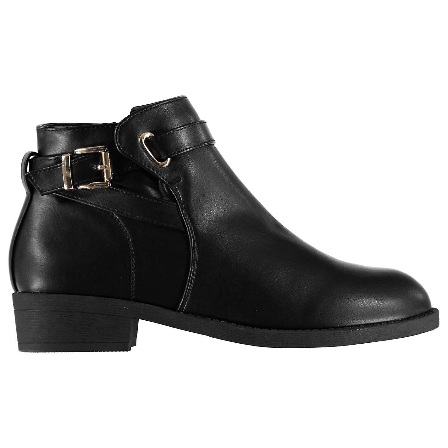 Miso klamra damskie buty płaskie kostki Zip niewielkie pięty paskiem dorywczo wygodne dopasowanie UHIHm