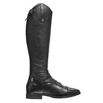 Brogini Unisex Como Riding Boots Long Zip Strap Studs Stretch