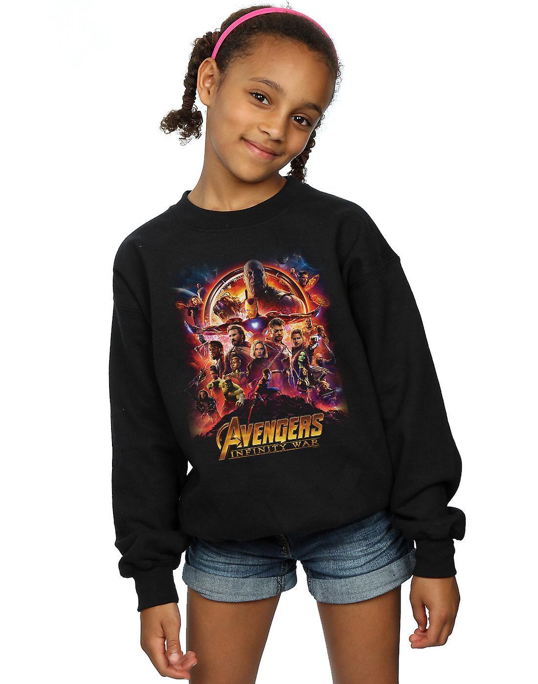 Marvel Girls Avengers Infinity War Movie Poster Sweatshirt