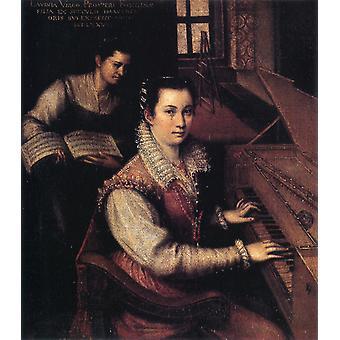 Omakuva, Lavinia Fontana, 27,4 x 24,9 cm
