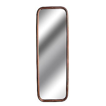 Hill Interiors Industrial Rectangular Copper Effect Mirror