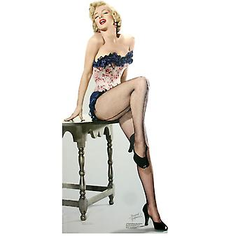 Marilyn Monroe - Net kousen - Lifesize karton gestanst / Standee
