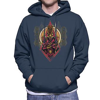 Marvel Black Panther Okoye Wakanda Forever Men's Hooded Sweatshirt