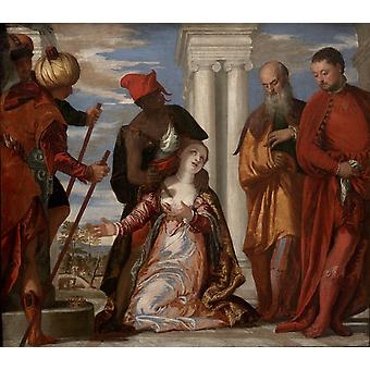 The Martyrdom of St. Justine, Paolo Veronese, 60x50cm