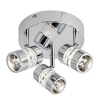 Pęcherzyki Chrome 3 LED Spotlight sufitowe - reflektor 4413CC