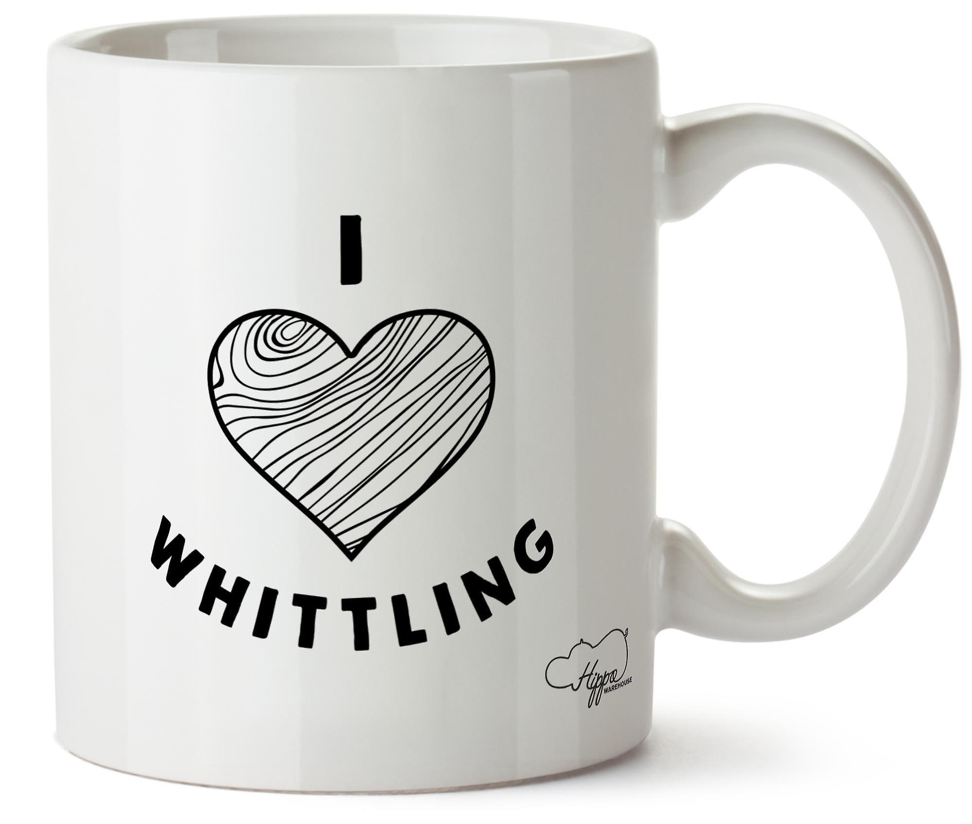 Hippowarehouse I Love Whittling Printed Mug Cup Ceramic 10oz