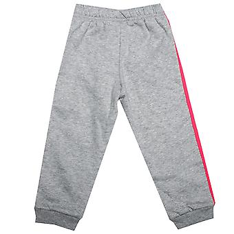 Baby meisjes adidas Favourite Knit Jog Pants In Grey Heather-Ribbed taille en