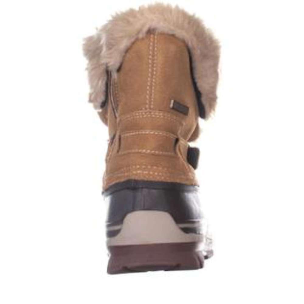 Khombu kvinners Brooke Leather lukket tå Mellomhøy kaldt vær støvler