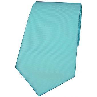 David Van Hagen horizontale côtelée cravate Polyester - Cyan