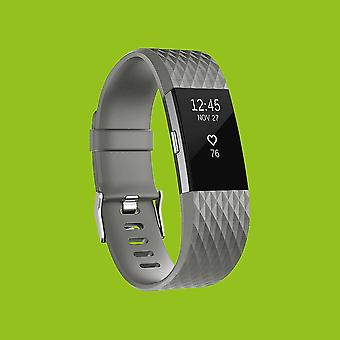 For Fitbit Charge 2 Muovi/silikoni ranne koru naisten/koko S harmaa Watch