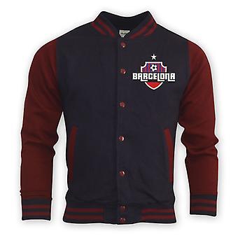 Barcelona College Baseball Jacket (navy) - Kids