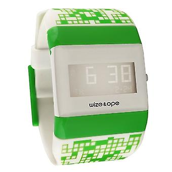 Wize and Ope Pixel Kids Green Digital  Watch WO-PK-1