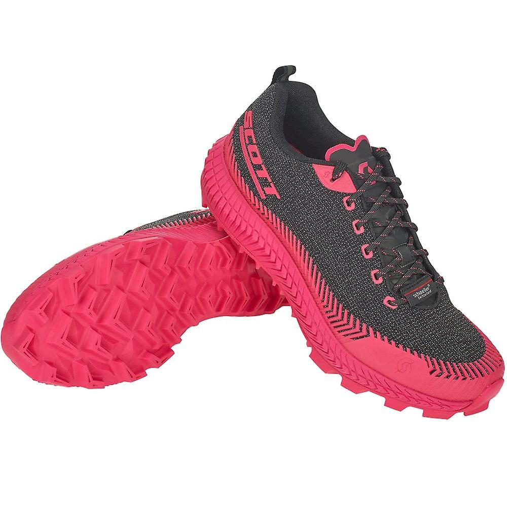 Scott Supertrac Ultra Rc Womens Cushioned Off-road Running Shoes Black/pink