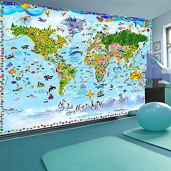 Fototapetti - World Map for Kids