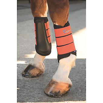 Shires Arma Neoprene Brushing Boots - Orange
