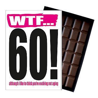 彼または彼女の85gチョコレートカードIYF117のための面白い60歳の誕生日ギフト失礼ないたずらなプレゼント