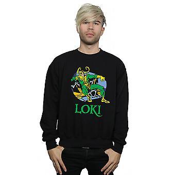 Marvel Men's Loki Throne Sweatshirt