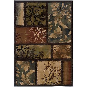 Hudson 1699g brown indoor area rug rectangle 5'3