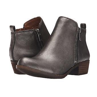 Lucky Brand Womens LK-BASEL couro de amêndoa Toe tornozelo Chelsea Boots