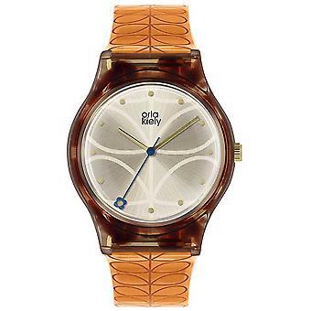 Orla Kiely | Womens | Tortoiseshell Case | Orange Stem Print Strap | OK2308 Watch