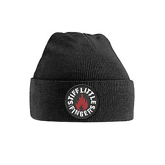 Stiff Little Fingers Beanie Hat Punk Patch Band Logo Official Black Embroidered