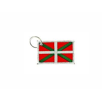 Porte Cle Cles Clef Brode Patch Ecusson Badge Drapeau Pays Basque Euskadi