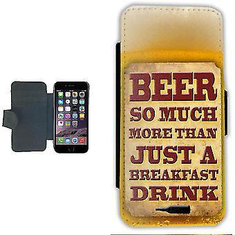 iPhone 7/8 Wallet Case Pouch portemonnee shell bier ontbijt