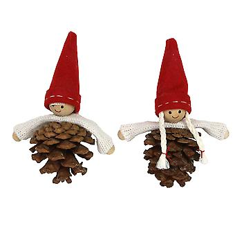 Gisela Graham Skandi Pine Cone opknoping ornament decoratie