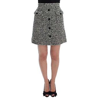 Dolce & Gabbana Gray Cashmere Bubble Above Knee Skirt -- SIG1832837