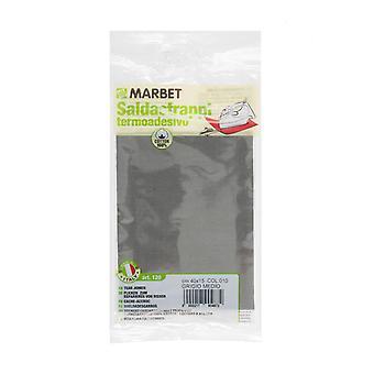 Marbet MB120-010 | Travaux de réparation tissu de coton | Fer-sur | 40 x 15cm | Gris