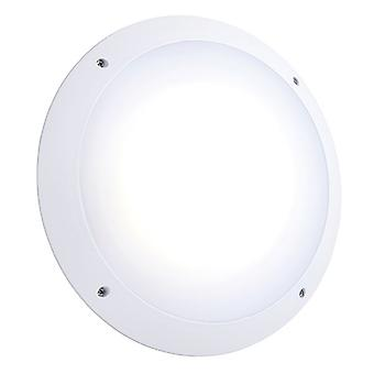 Saxby Lighting Seran Microwave integrado LED al aire libre microondas pared luz mate blanco texturizado, ópalo IP65 78609