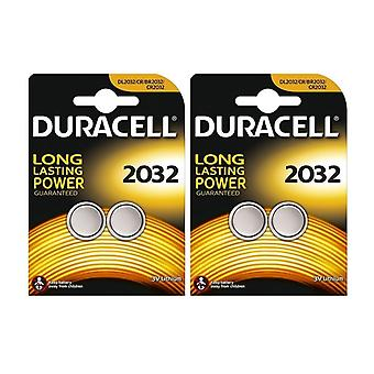 4 x Duracell CR2032 3V Lithium Coin Cell Battery 2032, DL2032, BR2032, SB-T15
