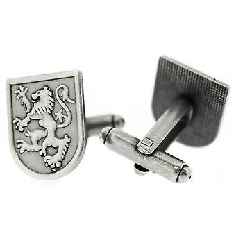 Pewter Scottish Lion Rampant Shield w kształcie pary spinek do mankietów